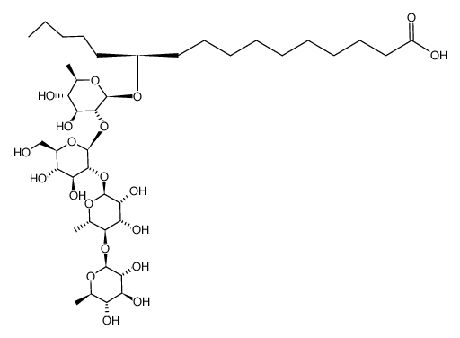 (S)-11-HYDROXYPALMITIC ACID 11-O-β-QUINOVOPYRANOSYL-(1-4)-α-RHAMNOPYRANOSYL-(1-2)-β-GLYCOPYRANOSYL-(1-2)-β-QUINOVOPYRANOSIDE