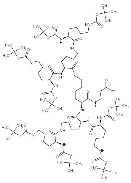 BOC8-LYS4-LYS2-LYS-β-ALA-PAM-RESIN