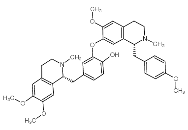 4-[[(1R)-6,7-dimethoxy-2-methyl-3,4-dihydro-1H-isoquinolin-1-yl]methyl]-2-[[(1R)-6-methoxy-1-[(4-methoxyphenyl)methyl]-2-methyl-3,4-dihydro-1H-isoquinolin-7-yl]oxy]phenol